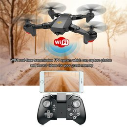 Wholesale Hot Rc - Original Visuo XS809HW RC Drone Mini Foldable Selfie Drone with Wifi FPV REAL TIME 2MP HD Camera Altitude Hold Quadcopter Hot Xmas Gift