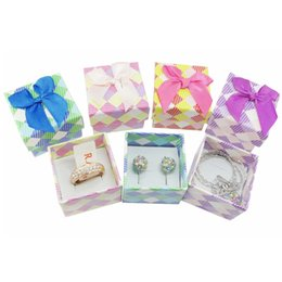 Wholesale Cheap Small Jewelry Boxes - 48pcs lot New 4*4cm Jewery Organizer Box Rings Storage Cute Box Small Gift Box For Rings Earrings Pendent Necklace Cheap Price Wholesale