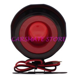 Wholesale Car Horns Alarm Systems - Hot Selling Universal 6 Six Tone Siren Horn For Car Alarms DC12V 15W 120dB Electronic Siren With 35cm Wire