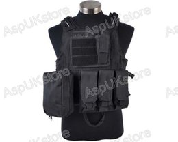 Wholesale Airsoft Molle Vests - Fall-Airsoft Molle Tactical FSBE Style Carrier Combat Vest With Detachable Pouches free shipping