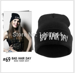 Wholesale Bad Hair - Wholesale-2015 Sport Winter Bad Hair Day Beanie Cap Men Hat Beanie Knitted Winter Hiphop Hats For Women Fashion Caps Hot Sale DP671503