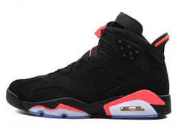 Wholesale Black Basketball Shoes - 2016 New Shoes, 2015 Basketball Shoes,Trainers Shoes Sneakers Boots,Infrared 6 Shoe,GS Valentine's Day Shoe,Black Infrared Shoes
