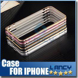 Wholesale S4 Bumper Metal - Iphone 6S 5S 6S Plus Samsung Galaxy S6 S6 Plus S6 Edge S5 S4 Note 5 4 A7 Metal Bumper Frame Slim Aluminium Alloy Arc Protector Case Cover