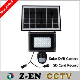 Wholesale Solar Pir Camera - Solar Lamp 720P Hidden DVR Camera Including 8GB SD Card 40pcs LED Floodlight PIR Motion Detection Recording Video HD CCTV Security
