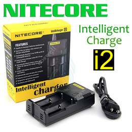 Wholesale I2 Charger - Nitecore I2 Universal Intelligent Charger for 18350 18450 18650 14500 26650 mods Battery US UK EU AU PLUG mod chargers DHL freeshipping