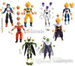 Wholesale Wholesale Dbz Action Figures - Wholesale-8pcs Dragonball Z Dragon ball can face transplant and palm DBZ Goku Piccolo Model Toys Assembly Toys Compatible Action Figure