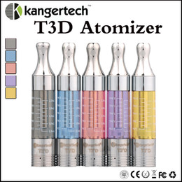 Wholesale dip tips - Top quality T3D atomizer clone with upgraded dual coil atomizer changeable dip tip fit evod vision spinner 2 Nego battery