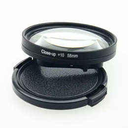 Wholesale Macro Close Up Filter Kit - 58mm Macro lens Close-Up +1 +2 +4 +8 +10 times Filter Kit only for hero4 session Camera Lens