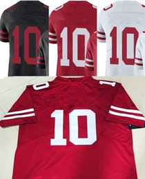 Wholesale Cheap Yellow Shirts - Wholesale 2017 cheap Jimmy Garoppolo Jersey 10 Shirt With name on the Back of Jersey Best Quality Cheap Size S-XXXL