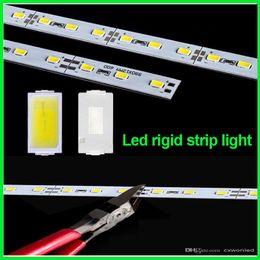 Wholesale Led Bar Slot - DHL Fedex 50m lot led rigid strip light led bar light SMD5630 DC12V 1m 72leds + U Channel aluminum slot without cover showcase light