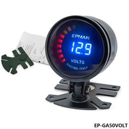 """Wholesale Digital Volt Gauges - TANSKY -New! Epman Racing 2"""" 52mm Smoked Digital Color Analog Digital Voltage Volt Meter Gauge with bracket EP-GA50VOLT"""