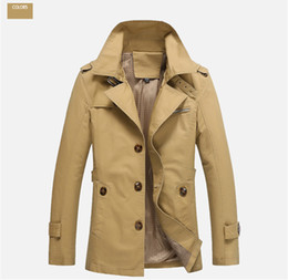 Wholesale Men Single Breast Coat - Fashion mens clothing trench coat man Spring and Autumn thin cotton Jacket male overcoat Casual Slim single-breasted Coats Large size M-5XL