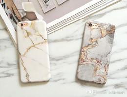 Wholesale Wholesale Luxury Bags - Wholesale Marble Chrome Case for iPhone 7 Case Luxury Marble Cover for iPhone X 7Plus 6s 6 Plus 8 TPU Phone Bag for samsung s8 s8 plus