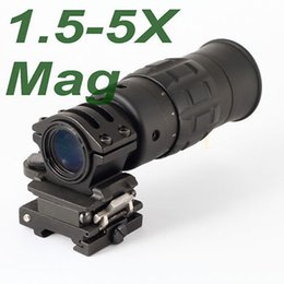 Wholesale Flip Side - Tactical 1.5-5X Magnifier Scope with Flip to Side Mount Zooming Optics