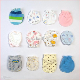 Wholesale Baby Anti Scratch - cute newborn baby anti-scratch gloves & mittens 100% cotton infant products stuff accessories supplies 5 pairs lot