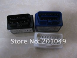 Wholesale Elm327 Com - Wholesale-super mini elm327 bluetooth 2 colors black blue elm 327 bt usb wifi elm327 com obd2 version 1.5