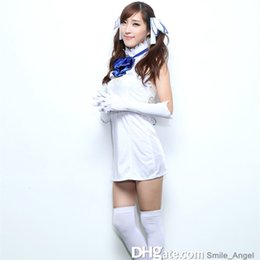 Wholesale Sexy Games Character - 2016 New Arrival Hestia Cosplay Costumes White Sexy Anime Cartoon Character Women Dresses With Stockings Hot Selling