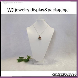 Wholesale Mannequin Displays For Jewelry - Wholesale-35cm Tall White Mannequin Necklace Jewelry Pendant Display Stand Holder Show Decorate Long Chain Showing Bust for Counter Top