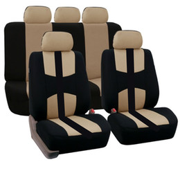 Wholesale Red Seating - 9 Set Full Car Seat Covers Universal Seat Cover For Automobile Seat Protector Car-Styling Interior Accessories