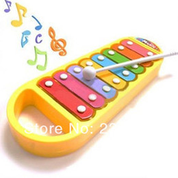 Wholesale Infant Castanets - New Child Kid Baby Musical Instrument 8-Note Xylophone Toy Wisdom Development Free Shipping