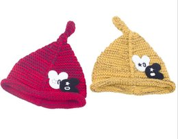 Wholesale Beanie Kids Clothes - New Novelty Baby Winter Hat Wool Knitted Kids Hats Gorros Warm Cap Skullies Beanies For Children Clothing And Accessories