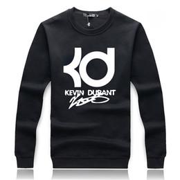 Conception de chemises d'hiver pour hommes en Ligne-Gros-2016 automne hiver sweat-shirts à capuche hommes Hoodies Hip Hop Design Kevin Durant gris noir manches capuche Pullover ding
