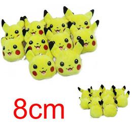 Wholesale Pokemon Key - Poke plush toys 8cm Soft Plush Toy Pendant key chain doll for children poke toys and gifts