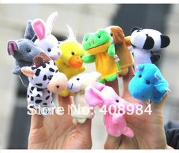 Wholesale Teddy Bear Finger Puppets - free shipping 20pcs lot Animal Finger Puppet Professional baby&kids toy