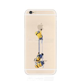 Wholesale Despicable Hard Case Iphone - Wholesale-Funny Cartoon Minions Despicable Me Hard PC Case Cover For iphone 6 4.7""