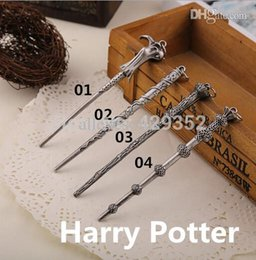 Wholesale Harry Potter Wand Key Chain - Wholesale-Wholeslae 24pcs A Lot Harry Potter Magic Wand Keychain Fashion Vintage Key Chains For Women&Men Size 11.7*1.4cm