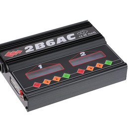 Wholesale Dual Lipo Battery Charger - 2B6AC 2 * 50W Dual Power AC DC Balance Charger Discharger for RC LiPo LiLo LiFe MiMh NiCd PB Battery