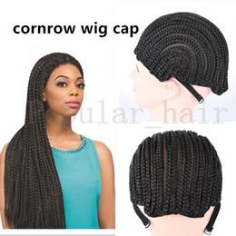 Wholesale Spider Braid - 10Pcs Cornrows wig cap for easier sew in,braided wig caps crotchet black color spider braiding wig cap weaving cap with crochet braids hair