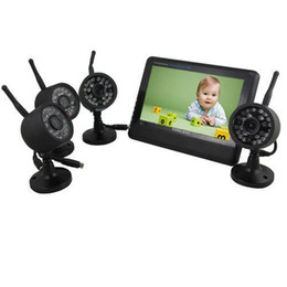 Wholesale Digital Video Recorder Ch - 7'' Wireless 4 CH Baby Monitor Home Security 4 Cam DVR Digital Video Recorder