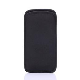 borsa del cellulare di neoprene Sconti Custodia morbida in neoprene nera proteggi maniche in neoprene per cellulari Custodia per cellulare Custodia per iPhone 6S e Samsung Galaxy S6 Edge