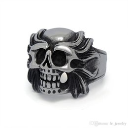 Wholesale Self Defense Ring Jewelry - FC Kito dark titanium steel self-defense squads Alondra tiger skull rings for men rings jewelry personalized jewelry SA519 DREAM
