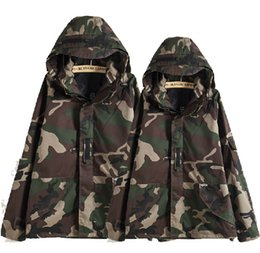 Wholesale Plus Size Camo Jacket - Fall-Tactical Camouflage Jacket Men Women Plus Size Camo Hooded Windbreaker Jackets Military Canvas Jacket Parka Fashion Streetwear