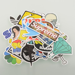 Wholesale Mix Decal - Wholesale-100 Pieces Stickers Skateboard Snowboard Sticker Laptop Luggage Car Bike Bicycle Decals mix Fashion Cool