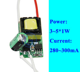 Wholesale Led Power Supply 12v 5w - Wholesale-Constant current LED Power Supply LED Driver 5w 300ma 3w 4w 3x1w 4x1w 5x1w LED Transformer AC 110V 220V 240V DC 12V 18V