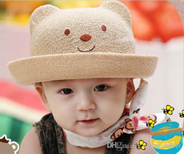 Wholesale Cheap Baby Hats For Girls - Cute Bear Caps Hats For Baby 5colors Mix Cotton Cheap 10pcs Lot Free Shipping 0310C5