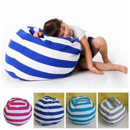 Wholesale plush beanbag - 63cm Kids Storage Bean Bags Plush Toys Beanbag Chair Bedroom Stuffed Animal Room Mats Portable Clothes Storage Bag 4 Colors 50pcs OOA3524