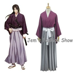 Anime Hakuouki Hijikata Toshizo Disfraces de Cosplay Disfraces de Halloween  Ropa Top Pantalones Kimono Traje Uniforme 8b571729b925