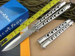 Free shipping All steel handle 440C blade Folding Blade Knife High quality BM42