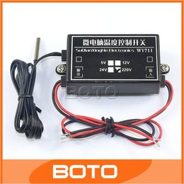Wholesale Thermostat Ac - Wholesale-AC 220V MCU Thermostat -15-70 Celsius Degrees Adjustable Switching Temperature Controller #210071