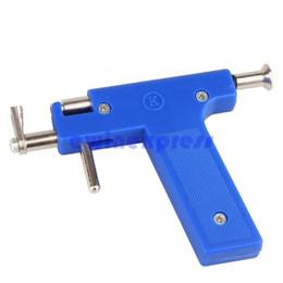 Wholesale Ear Body Piercing Gun - Professional Ear Nose Navel Body PIERCING GUN Tool Kit set jewelry 72 studs piercing Tool Kit Set