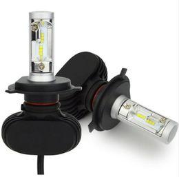 Wholesale H11 Led Bulb Cree - 2Pcs Car Headlight Bulbs H4 LED H7 H11 H13 9005 9006 50W 8000lm CSP CREE Chips Bulb Automobile Headlamp 6500K Fog Lamp Car Light