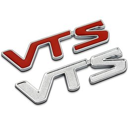 Wholesale Metal Decor Autos - VTS words decoration car emblem,car fender body decor styling metal sticker for citroen C4 C3 C5 Auto Badge Emblem Decal Sticker