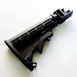 Wholesale Fits Positioning - 6 Position Solid Locking Collapsible Black Butt Stock Fit For AK Series 1pc