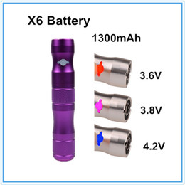 Wholesale Ego T3s - X6 Battery 1300mAh Variable Voltage battery Fit all eGo 510 thread ego CE4 CE5 CE6 T3S Protank atomizer VS Vision spinner II