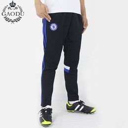 Wholesale Skinny Leg Joggers - Wholesale-Top Quality Classic Stripes Thin Soccer Training Pant Men Joggers Sport Pants Football Trousers Zipper Collect Legs Sweatpants