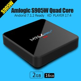 Wholesale Ram Ghz - M96X PRO PLUS Android 7.1 KD 18.0 2G RAM 16G ROM fully loaded S905W core CPU 2.4 5 GHZ wifi